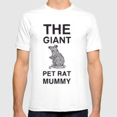 The Giant Pet Rat Mummy Mens Fitted Tee White MEDIUM