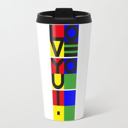 LOVE YOU ! - vertical Travel Mug