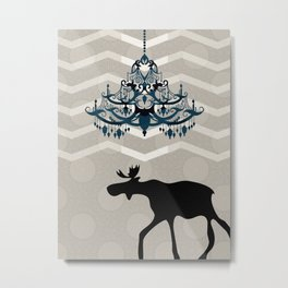 A Moose finds home Metal Print