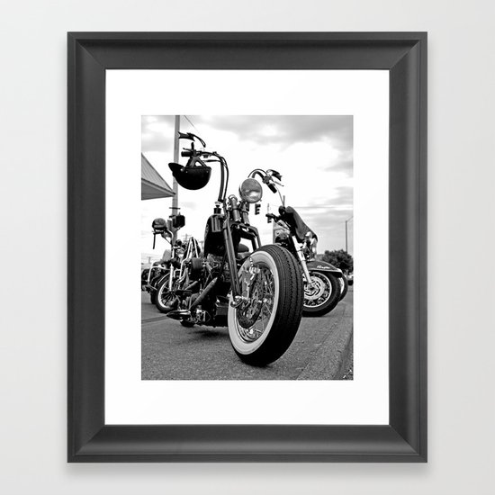 Roadside chopper Framed Art Print