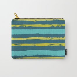 Painted Stripes - Jewel Tones Carry-All Pouch