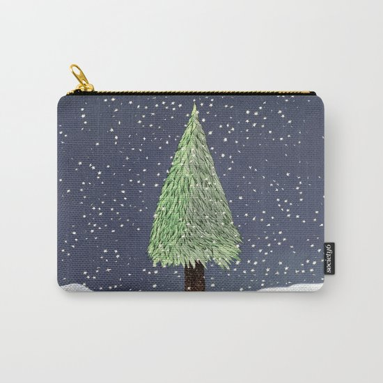 Winter Tree Carry-All Pouch