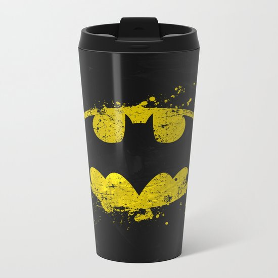 Bat man's Splash Metal Travel Mug