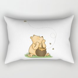 Classic Pooh with Honey - No background Rectangular Pillow