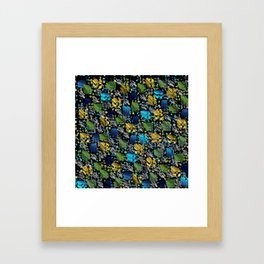 elegant modern pattern with dots circling shiny colored chick glittery Framed Art Print
