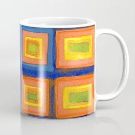 Square Pattern Beaming with Luminous Color Coffee Mug