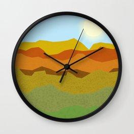 Summer Sunset Fields Wall Clock