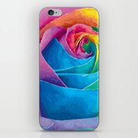 rose iPhone & iPod Skins featuring Rose  by Aloke Design
