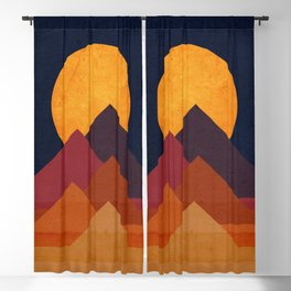 Full moon and pyramid Blackout Curtain