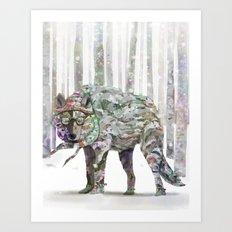 Winter Wonder Dog Art Print