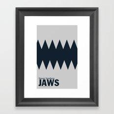 Jaws   Minimalist Poster Framed Art Print
