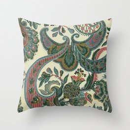 Eleganza Paisley Floral Throw Pillow