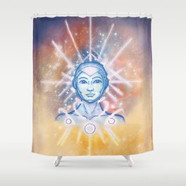 Interdimensional Guide- Full Color Shower Curtain