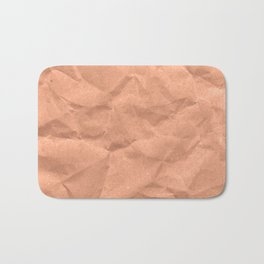 Kraft paper. crumpled paper Bath Mat