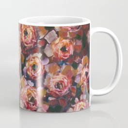 Red violet flowers rose peony oil painting by artist Valery Rybakow! Coffee Mug