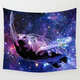 A Sea Turtle's Dream In Space Wall Tapestry