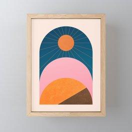 Abstraction_Sunshine_Minimalism_001 Framed Mini Art Print