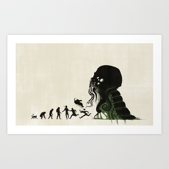 Lovecraftian Darwinism Art Print