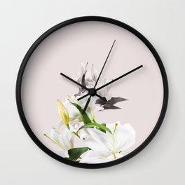 Tropical White Flowers #society6 #decor #buyart Wall Clock