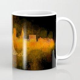 Cleveland City Skyline Hq V4 Coffee Mug