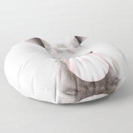 Bubble Gum Baby Rhino Floor Pillow