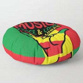 Shaka Hand, Reggae Colors, Rastafari design Floor Pillow