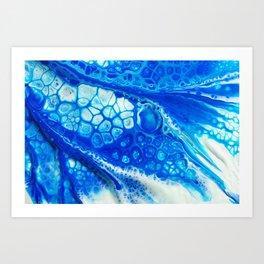 Blue cells Art Print