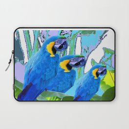 BLUE SURREAL BLUE MACAWS JUNGLE GRAPHIC Laptop Sleeve