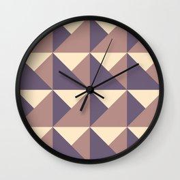 Mountains - Purple, Gold, Red Geometric Wall Clock