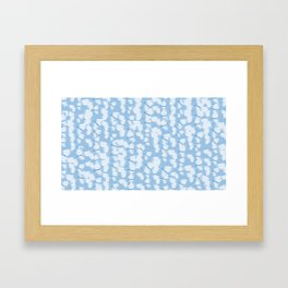 Butterflies Blue Framed Art Print