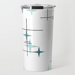 Mid Century Modern Stars (Teal) Travel Mug