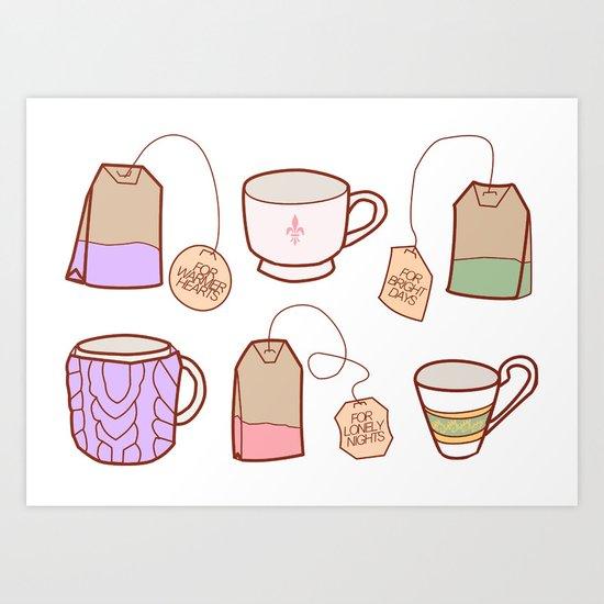 idealist tea Art Print