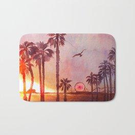 Sunset in Santa Monica Bath Mat