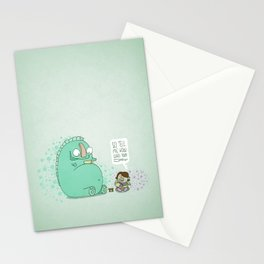 Monster and Tea Stationery Cards