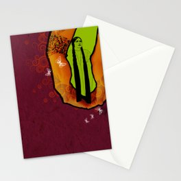 For you - maroon Stationery Cards