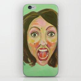 Screaming woman iPhone Skin