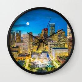 Houston 01 - USA Wall Clock