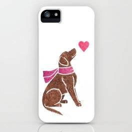 Watercolour Curly-coated Retriever iPhone Case