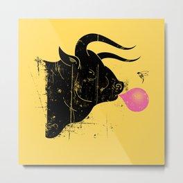 The Bull & The Bee Metal Print