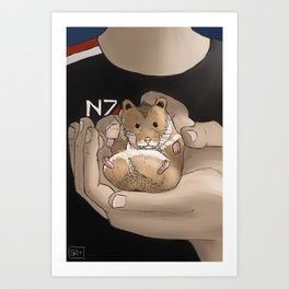 Space Hamster Art Print