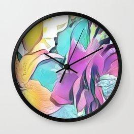 Flower Bouquet Pastel Wall Clock