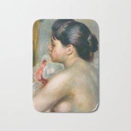 """Auguste Renoir (1841-1919) """"Dark-Haired Woman"""" Bath Mat"""