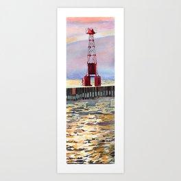 Pentwater South Pier Art Print
