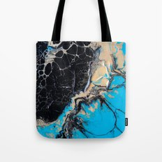 baby blue marble Tote Bag