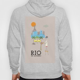 Rio - In the City - Retro Travel Poster Design Hoody