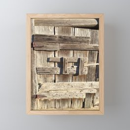 Historic barn door Framed Mini Art Print