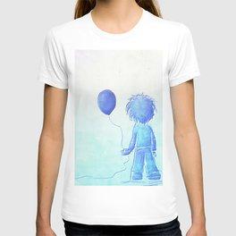 Lost childhood (boy with globe) T-shirt