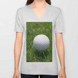 Golf Ball On The Green Unisex V-Neck