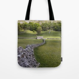 Meadows at Kettlewell, Yorkshire Dales, England Tote Bag