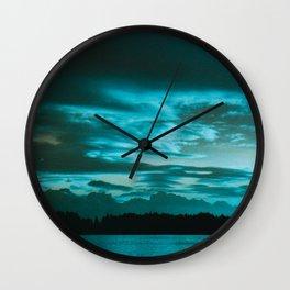 Azure Morning Wall Clock